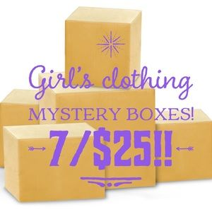 Toddler Girl's Mystery clothing boxes